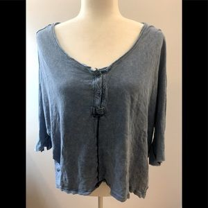 We the Free by Free People blue Boho top, size XS